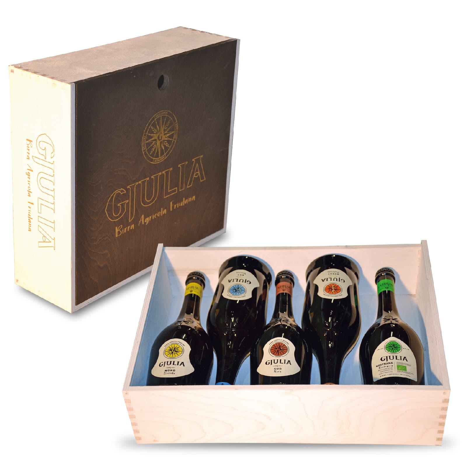 Cassetta regalo 2020 5 bottiglie