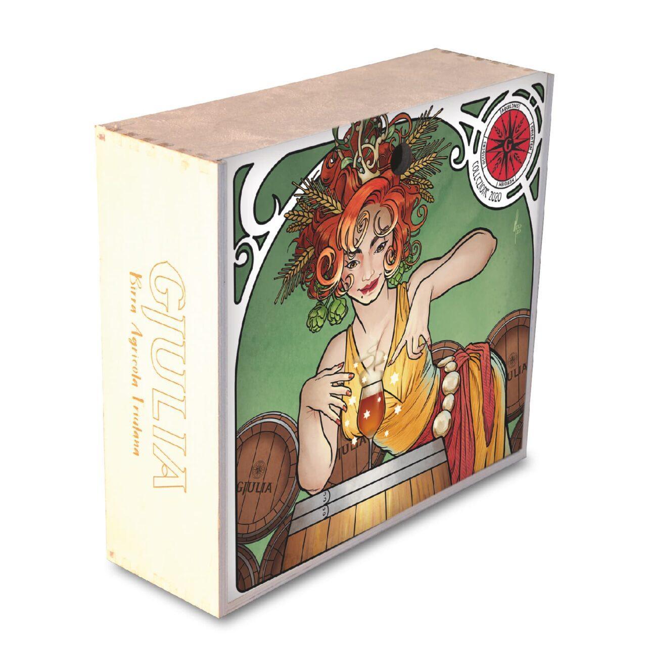 cassette di legno 2020 da collezione 4 o 5 bottiglie